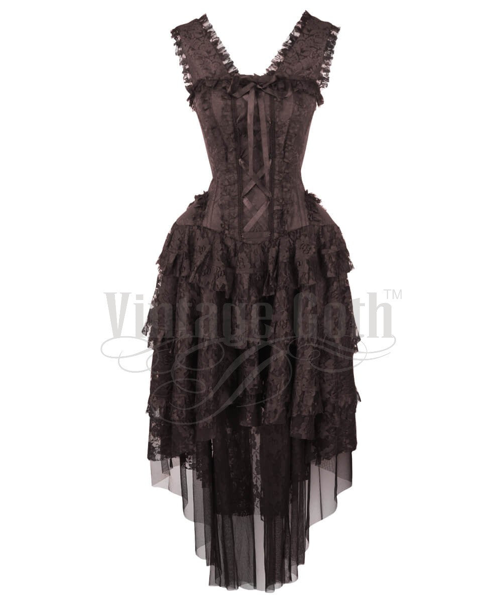 Ronnie Victorian Inspired Brown Custom Made Corset Dress
