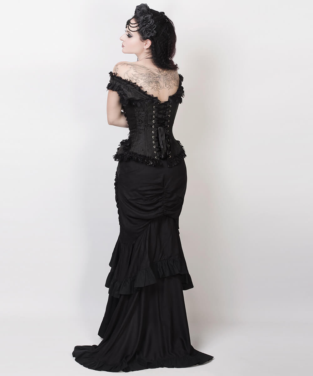 Laios Black Victorian Steampunk Custom Made Skirt