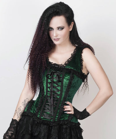 Ceren Green Victorian Inspired Corset