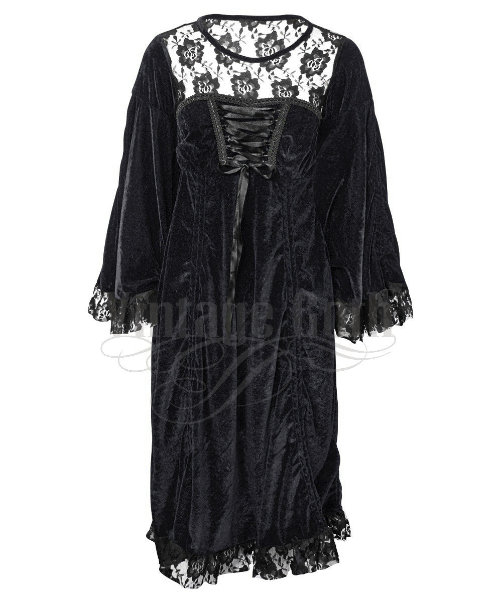 Roselle Black Gothic Custom Made Dual Top & Dress