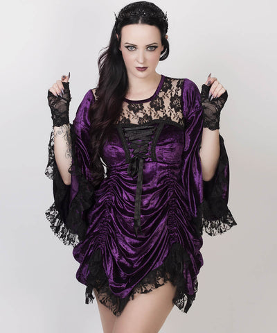 Afrim Purple Gothic Custom Made Dual Top & Dress