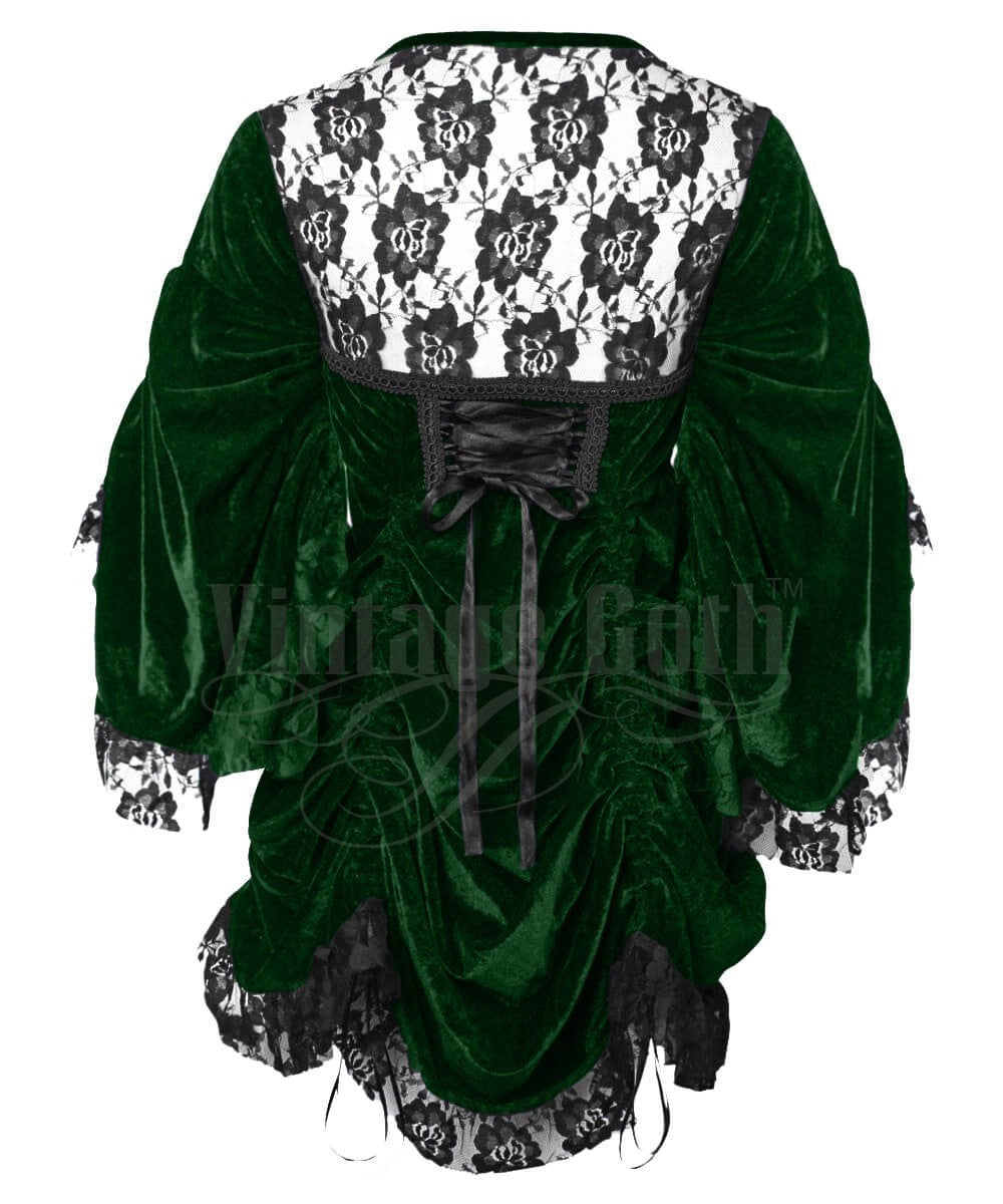 Ahoth Green Gothic Custom Made Dual Top & Dress