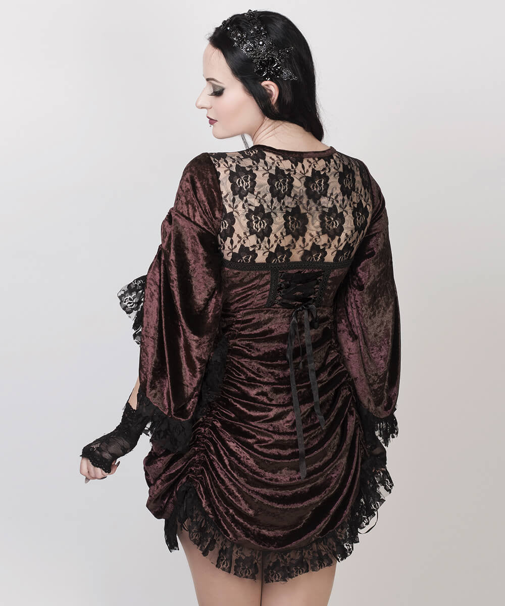 Cecilio Brown Steampunk Custom Made Dual Top & Dress