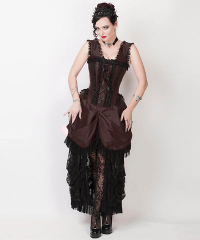 Farrell Brown Victorian Inspired Custom Made Dress