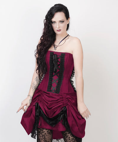 Fyodor Victorian Inspired Magenta Custom Made Corset Dress with Bolero