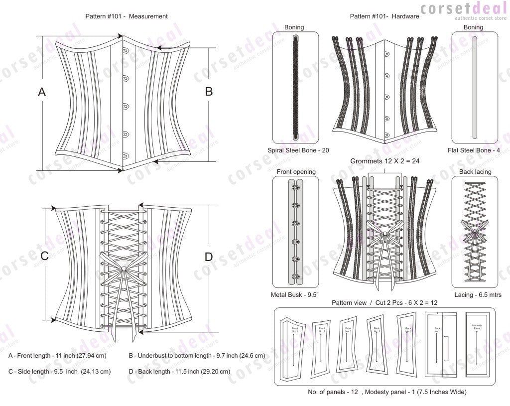 Rowan Waist Training Custom Made Corset