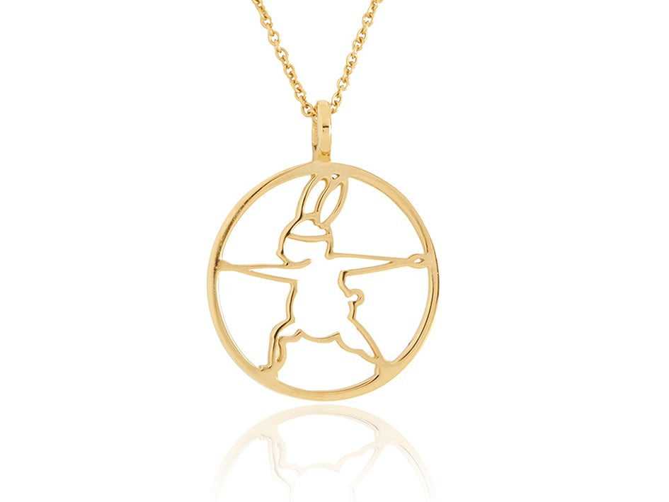 Yoga Bunny's contour necklace - warrior II
