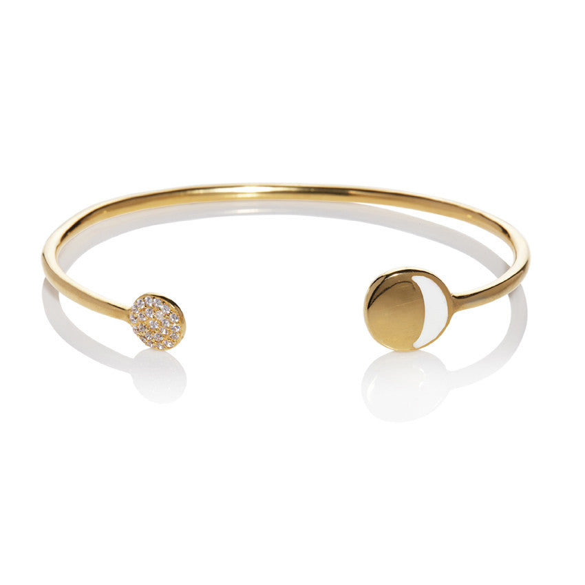 Waxing Moon Cuff Bangle