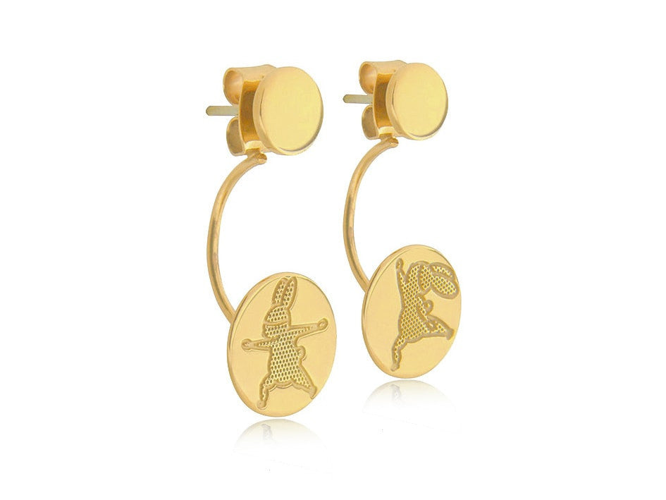Yoga Bunny's earrings - Gold