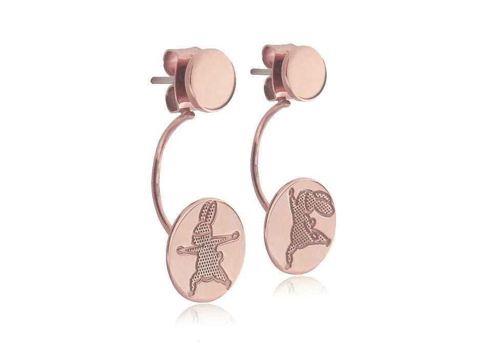 Yoga Bunny's earrings - Rose Gold