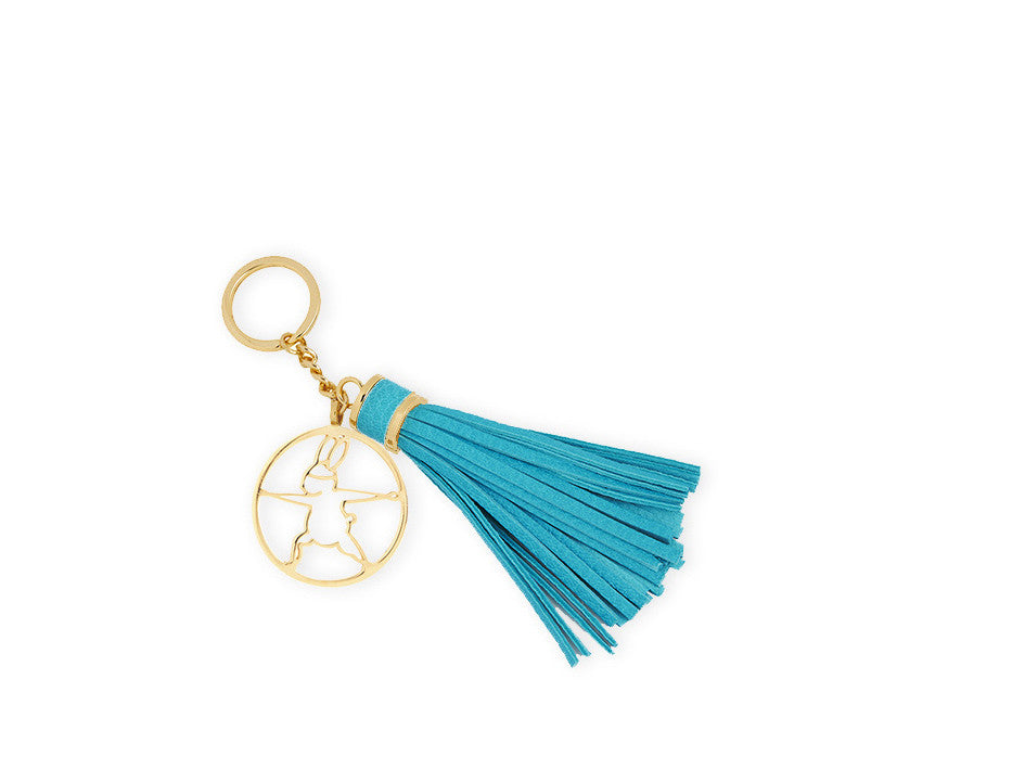 Keyring, Gold, Warrior II - Yoga Bunny's Keyring - Warrior II