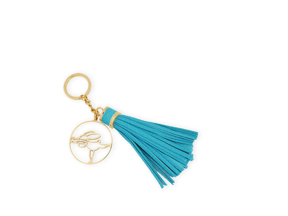Keyring, Gold, Warrior III - Yoga Bunny's Keyring - Warrior III