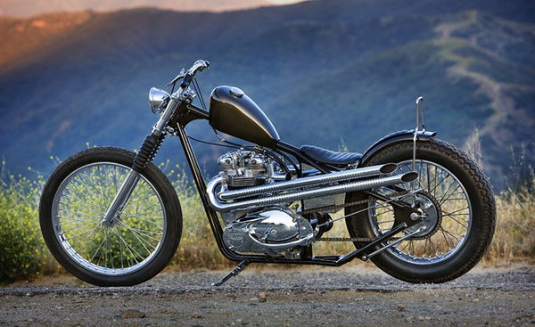Single downt ube triumph chopper pic