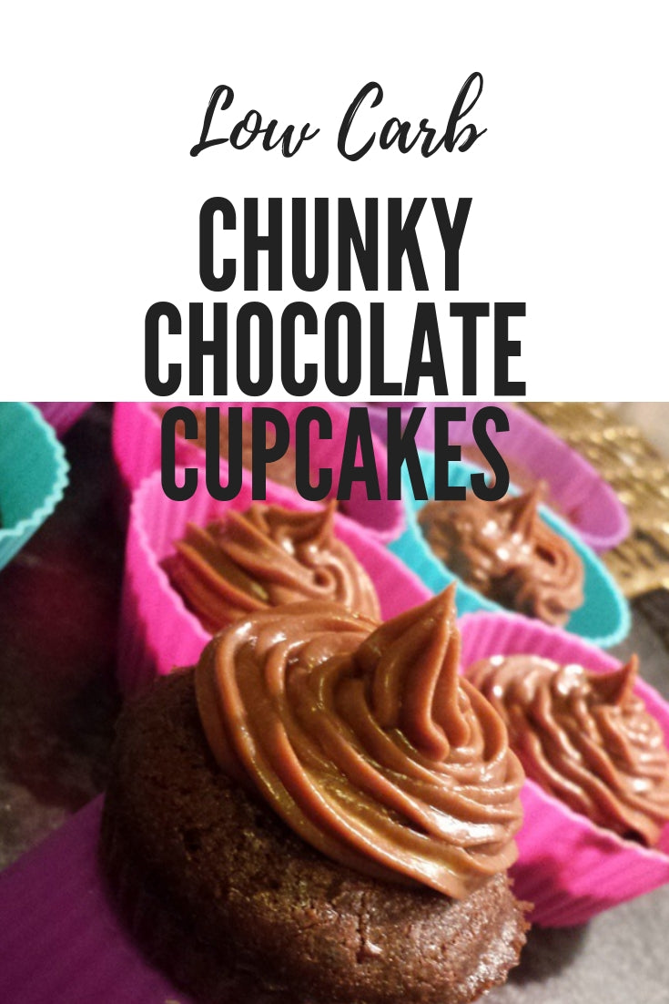 Low Carb Chunky Chocolate Cupcakes