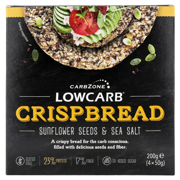 Low Carb® Crispbread - Sunflower & Sea salt -  carbzone.myshopify.com