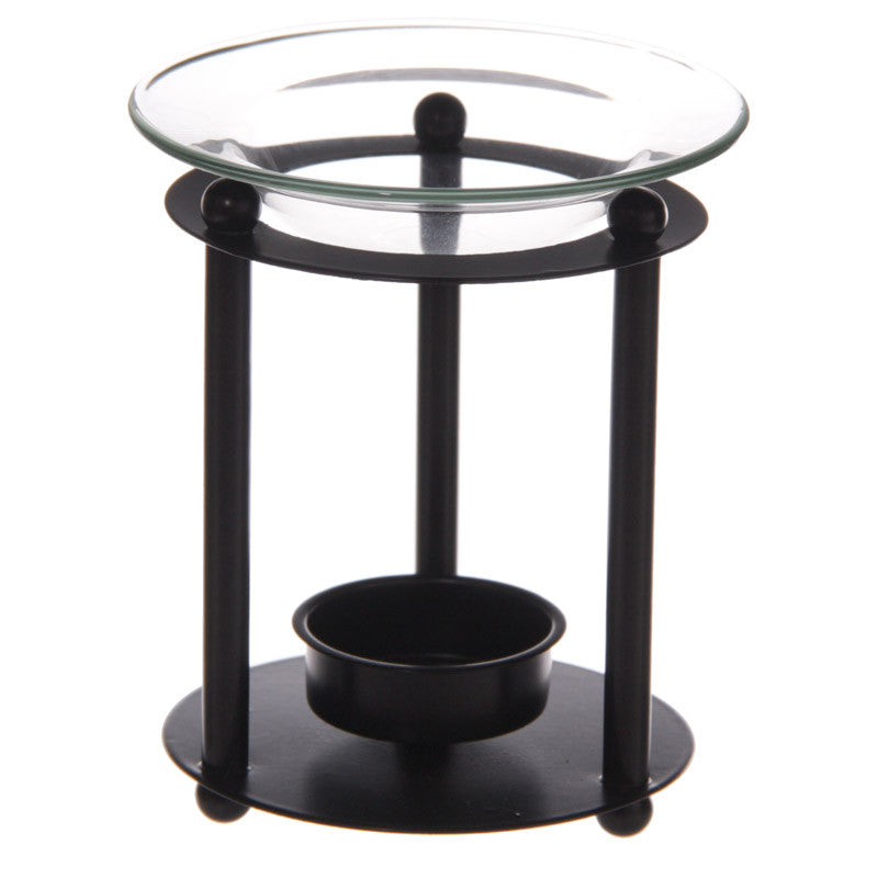 black metal rod oil wax burner warmer