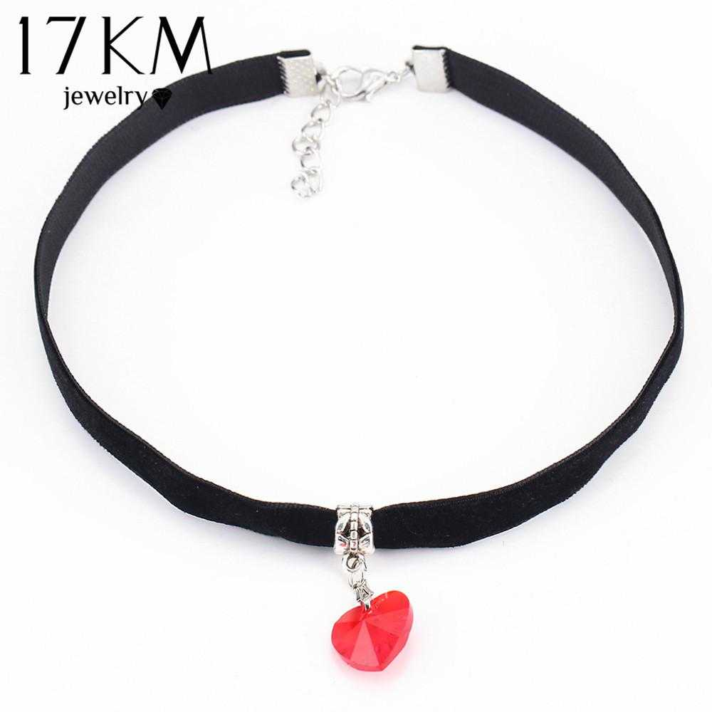 Lovers Choker Necklace-Necklace-Kirijewels.com-NJCS040red-Kirijewels.com
