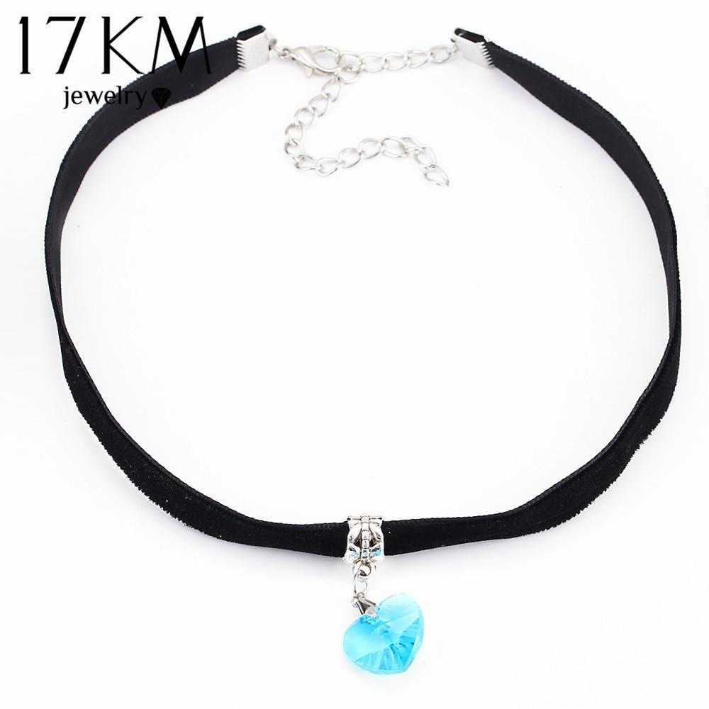 Lovers Choker Necklace-Necklace-Kirijewels.com-NJCS040blue-Kirijewels.com