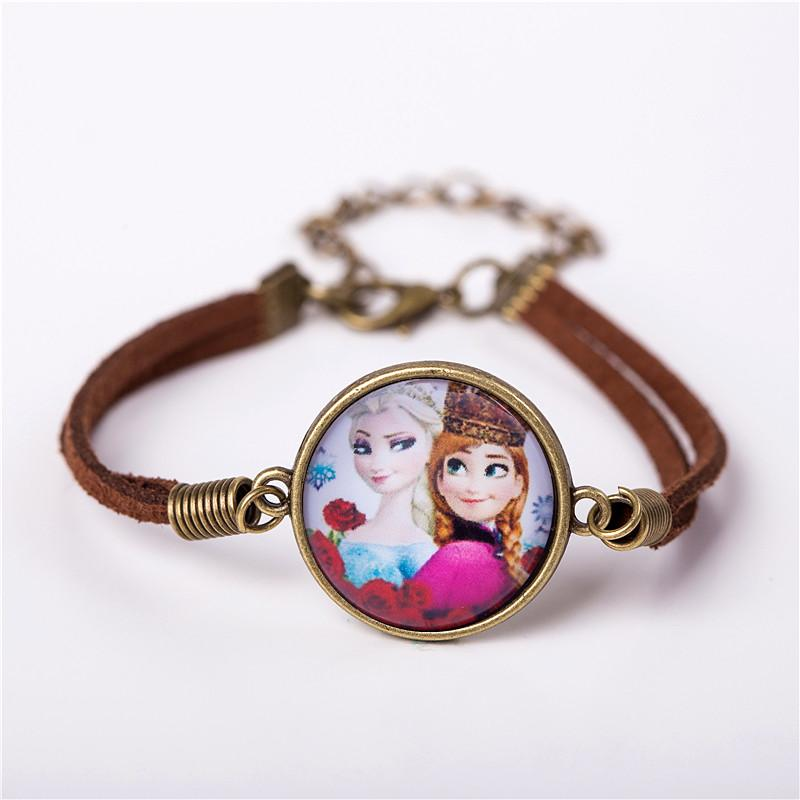 Kid Cartoon Leather Bracelet-Chain & Link Bracelets-Kirijewels.com-blue 1-Kirijewels.com