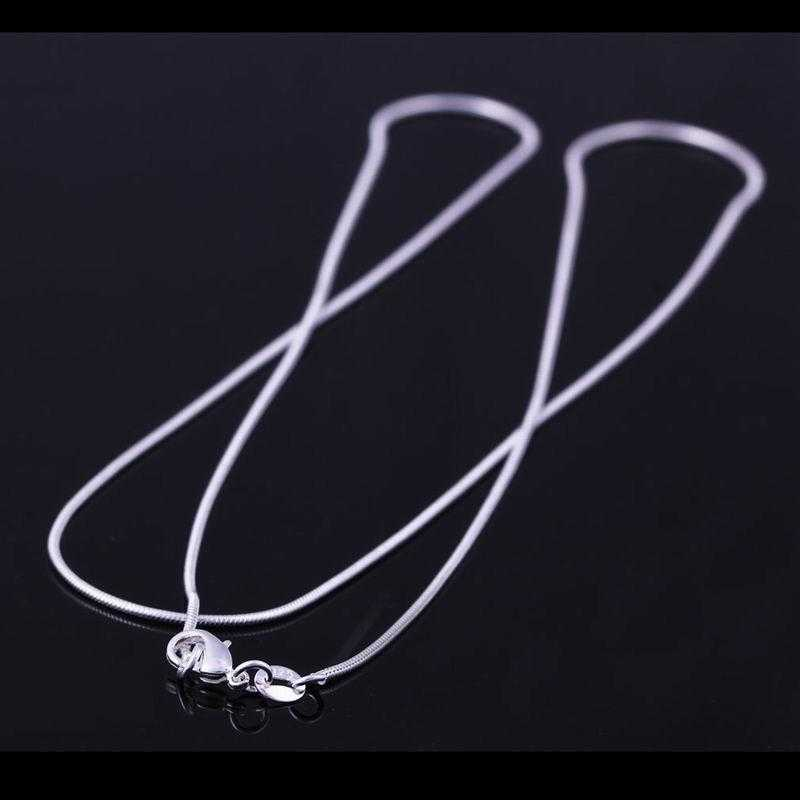 Silver Sterling Snake Chain Necklace/2-Necklace-Kirijewels.com-16 inchs-Silver-Kirijewels.com