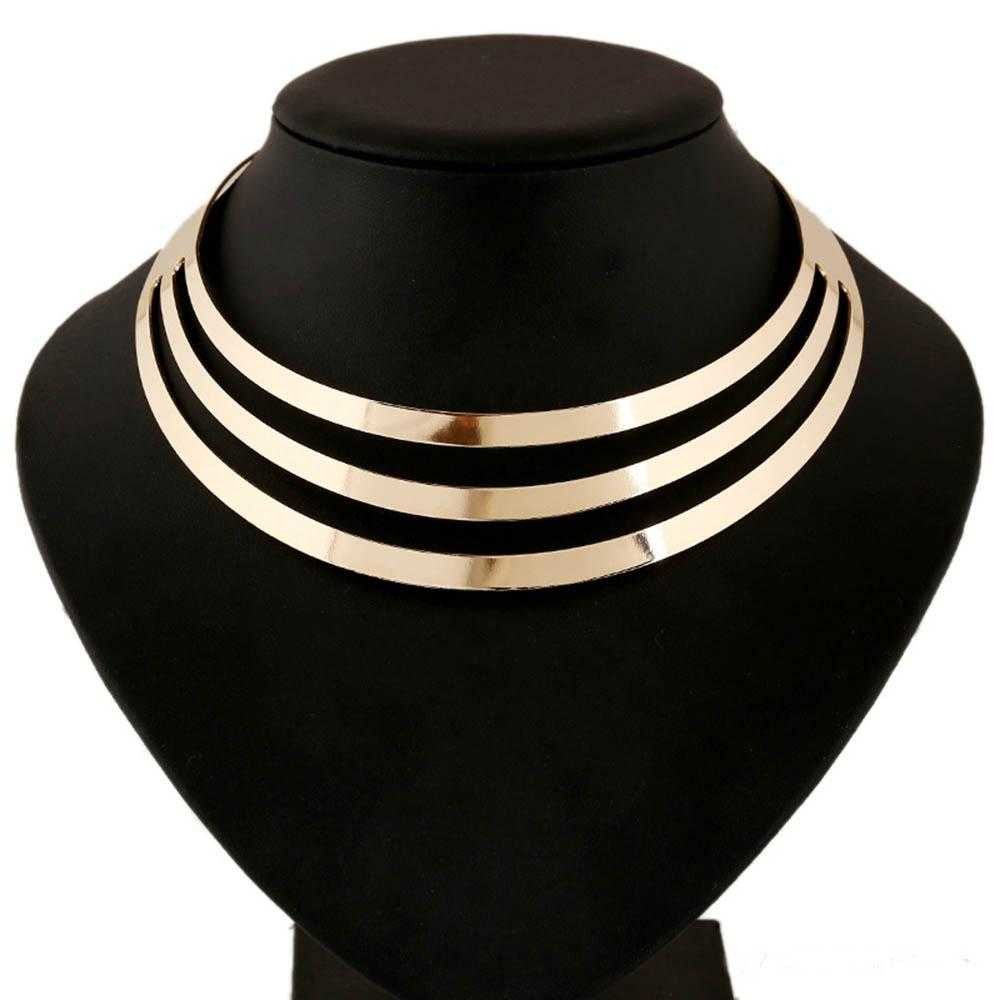 Choker Metal Necklace-Necklace-Kirijewels.com-Gold-Kirijewels.com