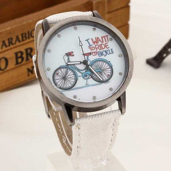 Free Bicycle Watch-Watch-Kirijewels.com-White-Kirijewels.com