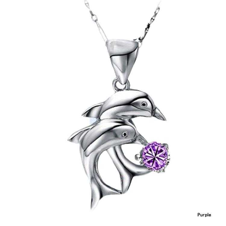 Free Dolphin Necklace-Necklace-Kirijewels.com-Purple-Kirijewels.com