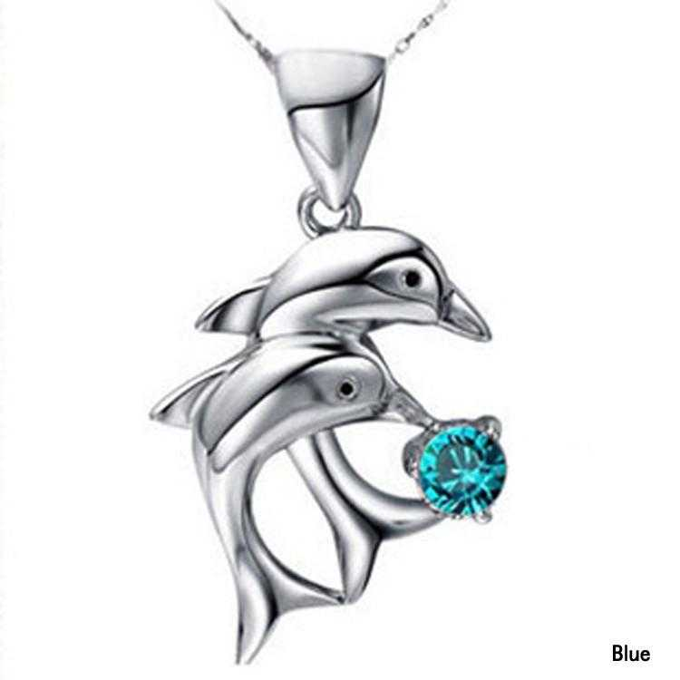 Free Dolphin Necklace-Necklace-Kirijewels.com-Blue-Kirijewels.com