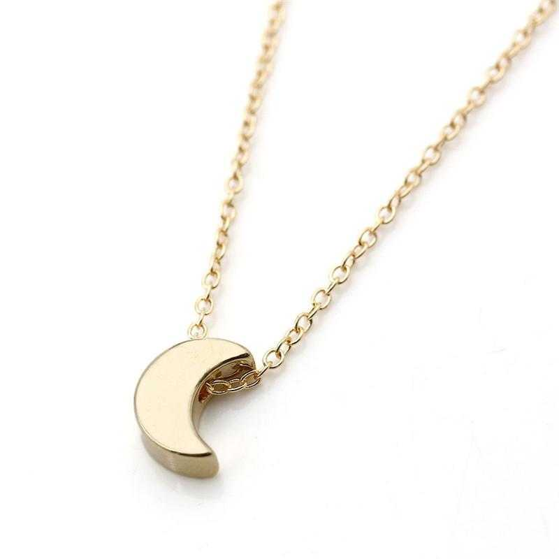 Free Crescent Moon Pendant Necklace-Pendant Necklaces-Kirijewels.com-Golden-Kirijewels.com
