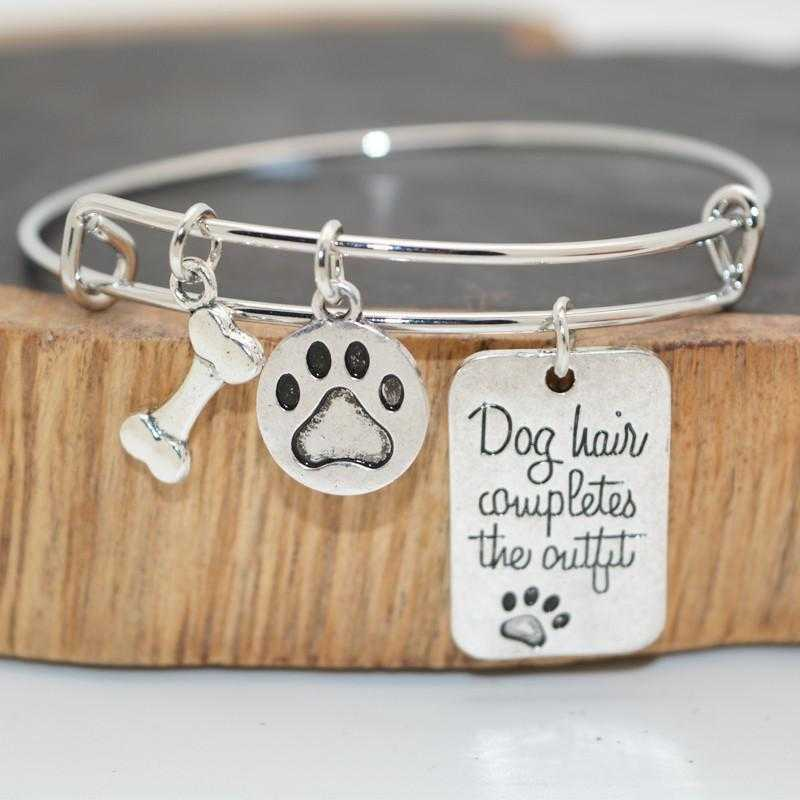 Dog Lover's Expandable Charm Bracelet-bangle-Kirijewels.com-White-Kirijewels.com