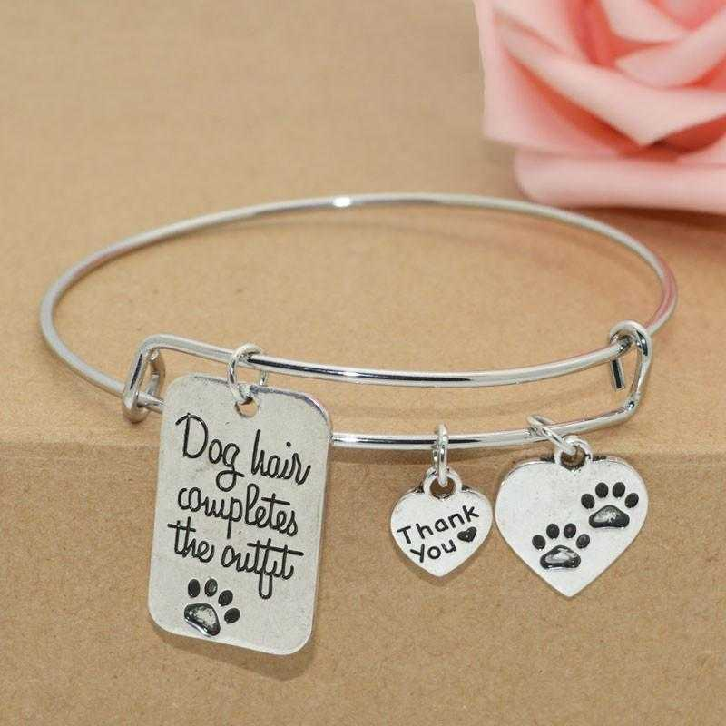 Free Dog Lover's Expandable Charm Bracelet-bangle-Kirijewels.com-Antique Silver Plated-Kirijewels.com
