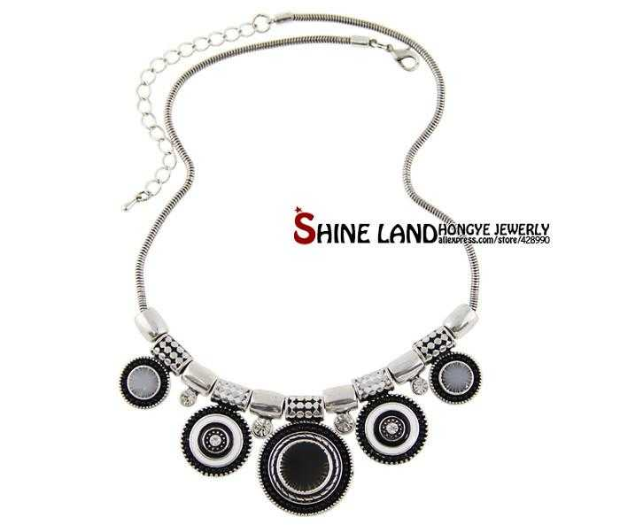 Ethnic Collares Statement Necklace-Choker Necklaces-Kirijewels.com-black-Kirijewels.com