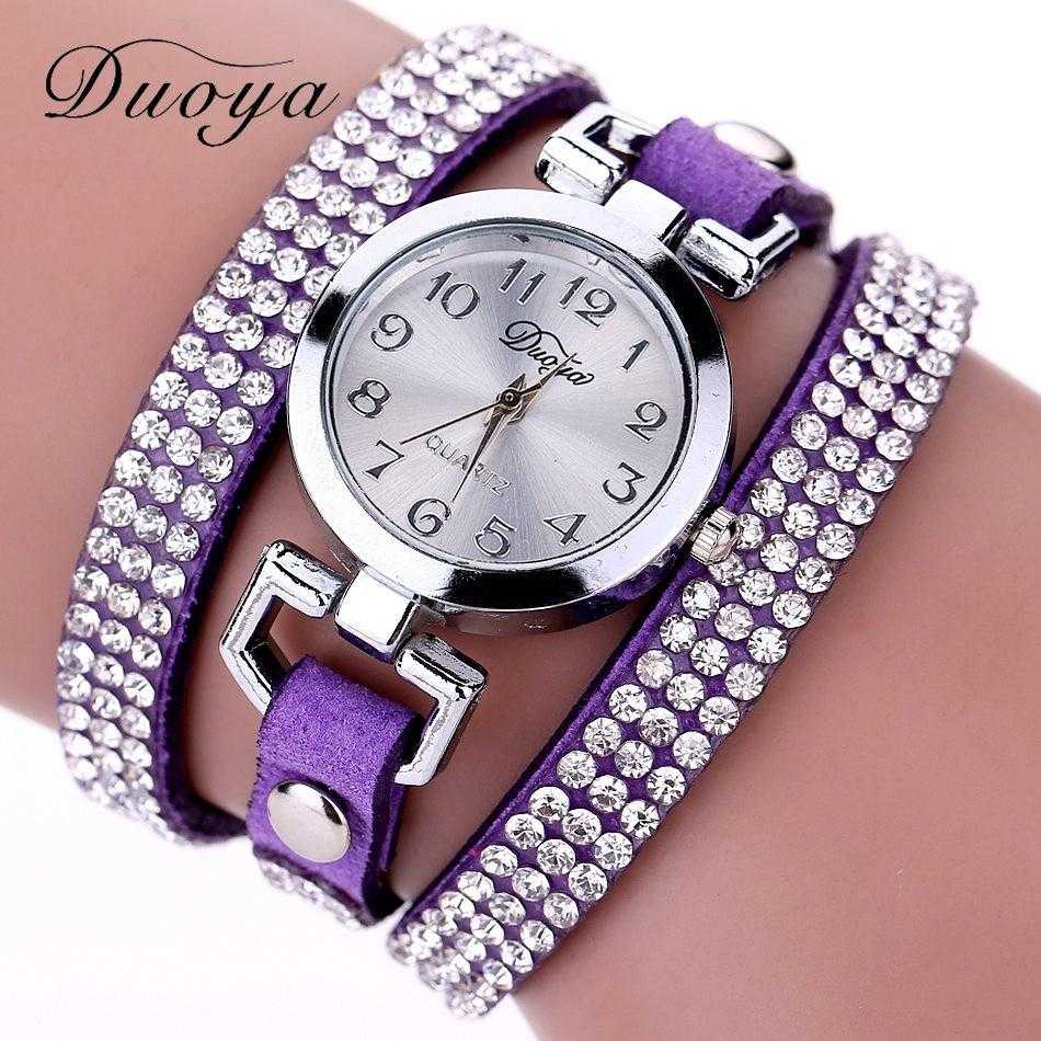 Free Luxury Rhinestone Bracelet Wristwatch-Watch-Kirijewels.com-Purple-Kirijewels.com
