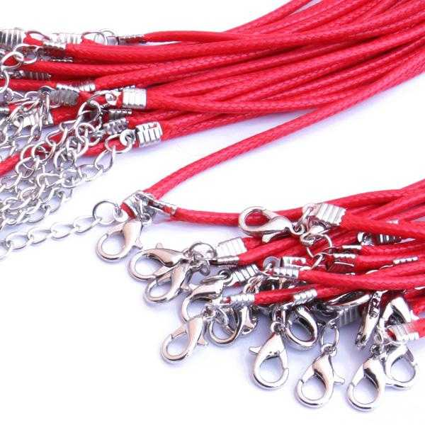 Free Twisted Braided Rope Chain Necklace-Necklace-Kirijewels.com-Red-45cm-Kirijewels.com