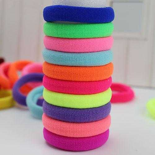 Free High Quality Rubber Bands Hair Holders-Hair Accessories-Kirijewels.com-Fluorescent colors-Kirijewels.com