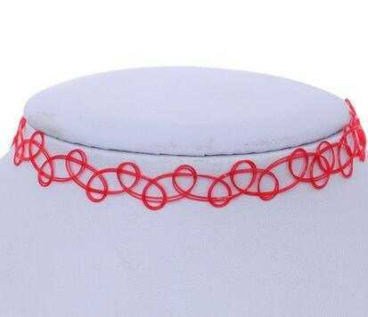 New Collares Vintage Necklace-Choker Necklaces-Kirijewels.com-red-Kirijewels.com