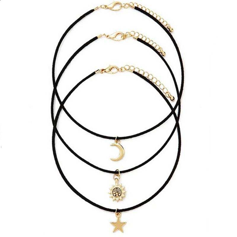 Star Choker Necklace-Necklace-Kirijewels.com-Gold-Kirijewels.com