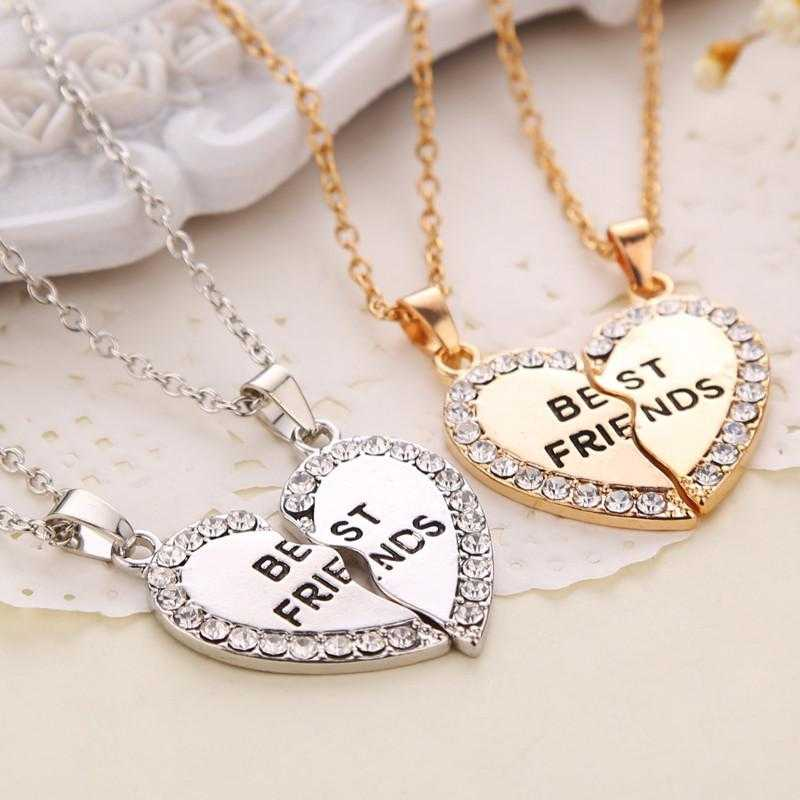 Free Best Friends Necklace-Pendant Necklaces-Kirijewels.com-Gold-Kirijewels.com
