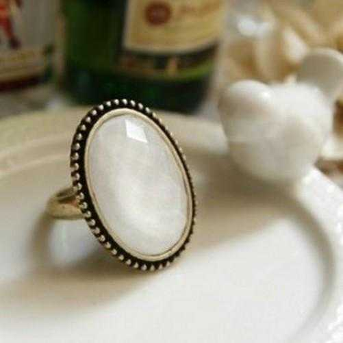 Oval Flower Ring-Rings-Kirijewels.com-Resizable-White-Kirijewels.com