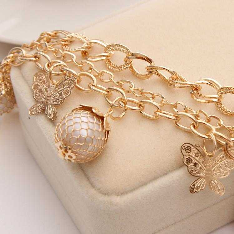 Luxury Simulated Pearl Butterfly Bracelet-Charm Bracelets-Kirijewels.com-Kirijewels.com