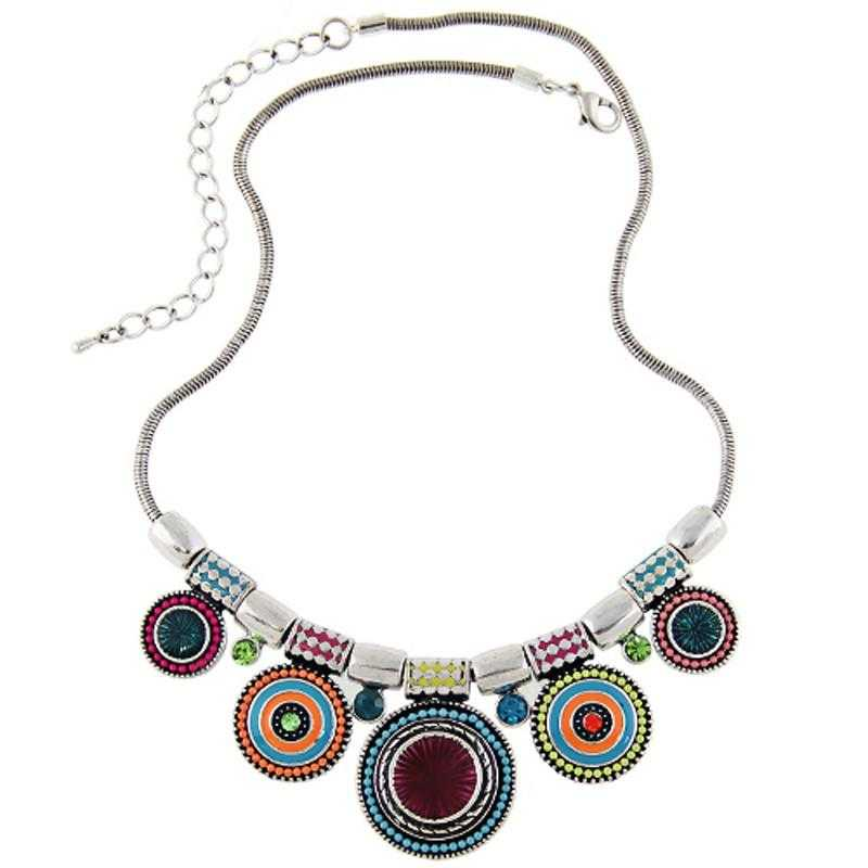 Free Ethnic Collares Statement Necklace-Choker Necklaces-Kirijewels.com-mulit-Kirijewels.com
