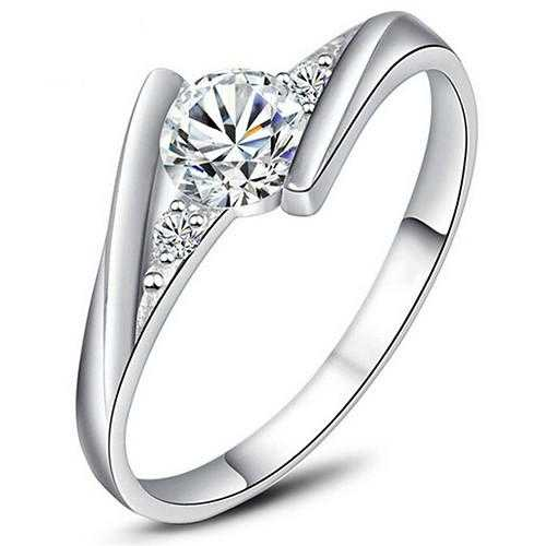Sterling Silver Cubic Zirconia Cocktail Wedding Ring-Rings-Kirijewels.com-9-Silver-Kirijewels.com