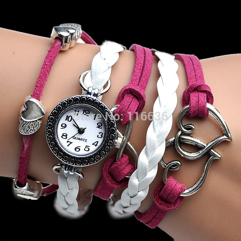 Music Bracelet Angel Wing Watch-Women's Watches-Kirijewels.com-Pink-Kirijewels.com