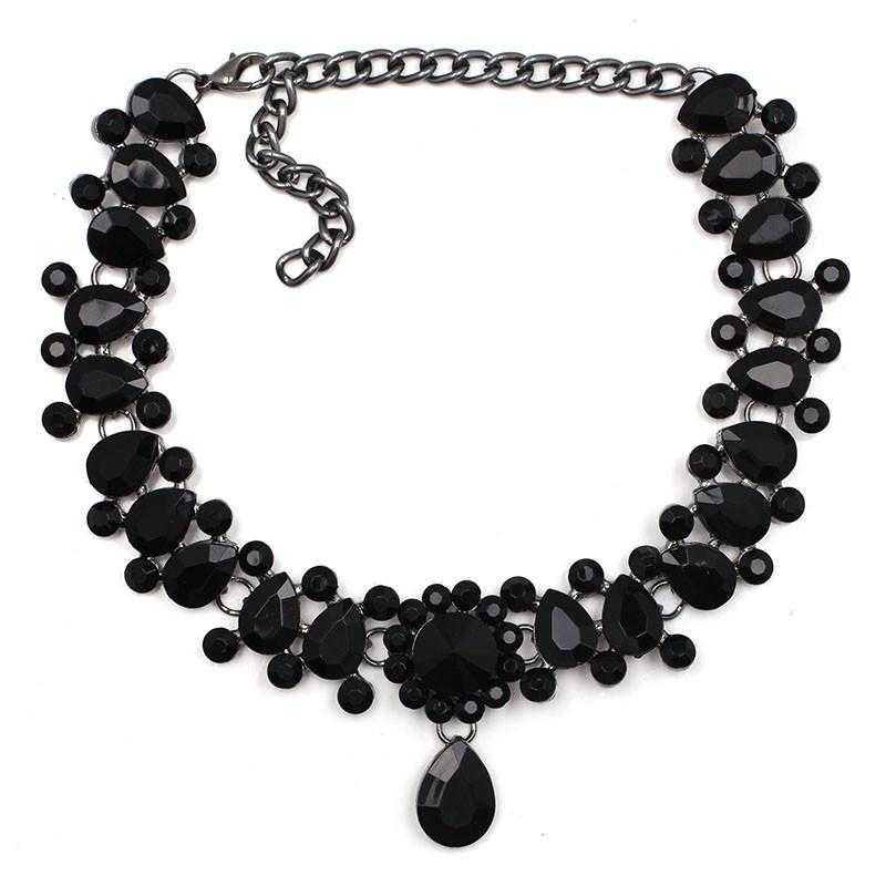 Water Drop Maxi choker Necklace-Choker Necklaces-Kirijewels.com-black-Kirijewels.com