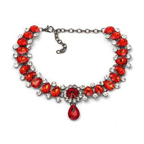 Free Water Drop Maxi choker Necklace-Choker Necklaces-Kirijewels.com-red-Kirijewels.com