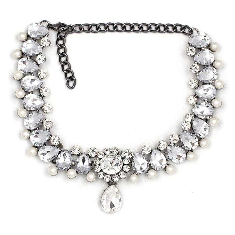 Free Water Drop Maxi choker Necklace-Choker Necklaces-Kirijewels.com-white-Kirijewels.com