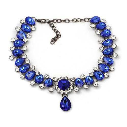 Free Water Drop Maxi choker Necklace-Choker Necklaces-Kirijewels.com-blue-Kirijewels.com