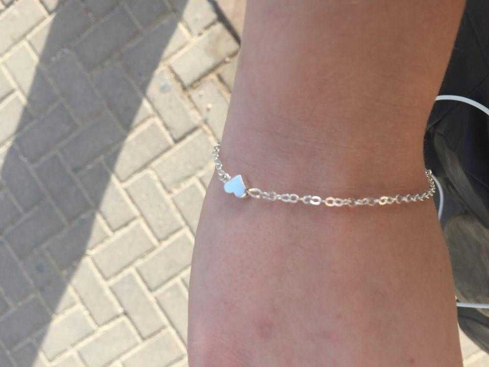 Silver Plated Valentine Heart Bracelet-Chain & Link Bracelets-Kirijewels.com-Gold-Kirijewels.com