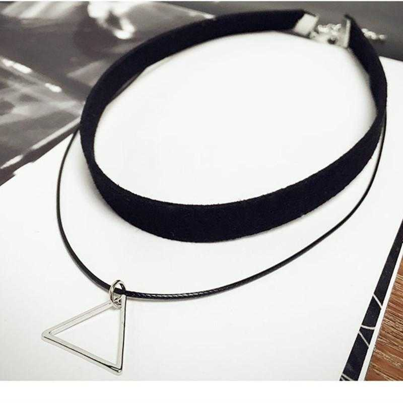 Triangle Geometric Fashion Necklace-Choker Necklaces-Kirijewels.com-Kirijewels.com