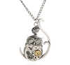 Free Moon Owl Pendant Necklace-Necklace-Kirijewels.com-Antique-Kirijewels.com
